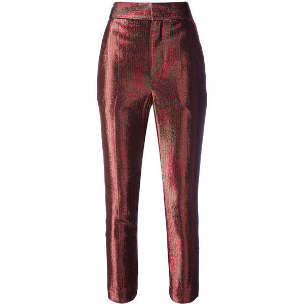 Haider Ackermann Phoenix Gun Cropped Trousers (1,590 ILS) ❤ liked on  Polyvore featuring pants