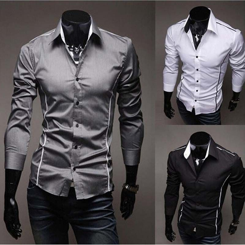 men shirts,hot sale men's casual shirts,spring dress High Quality ...