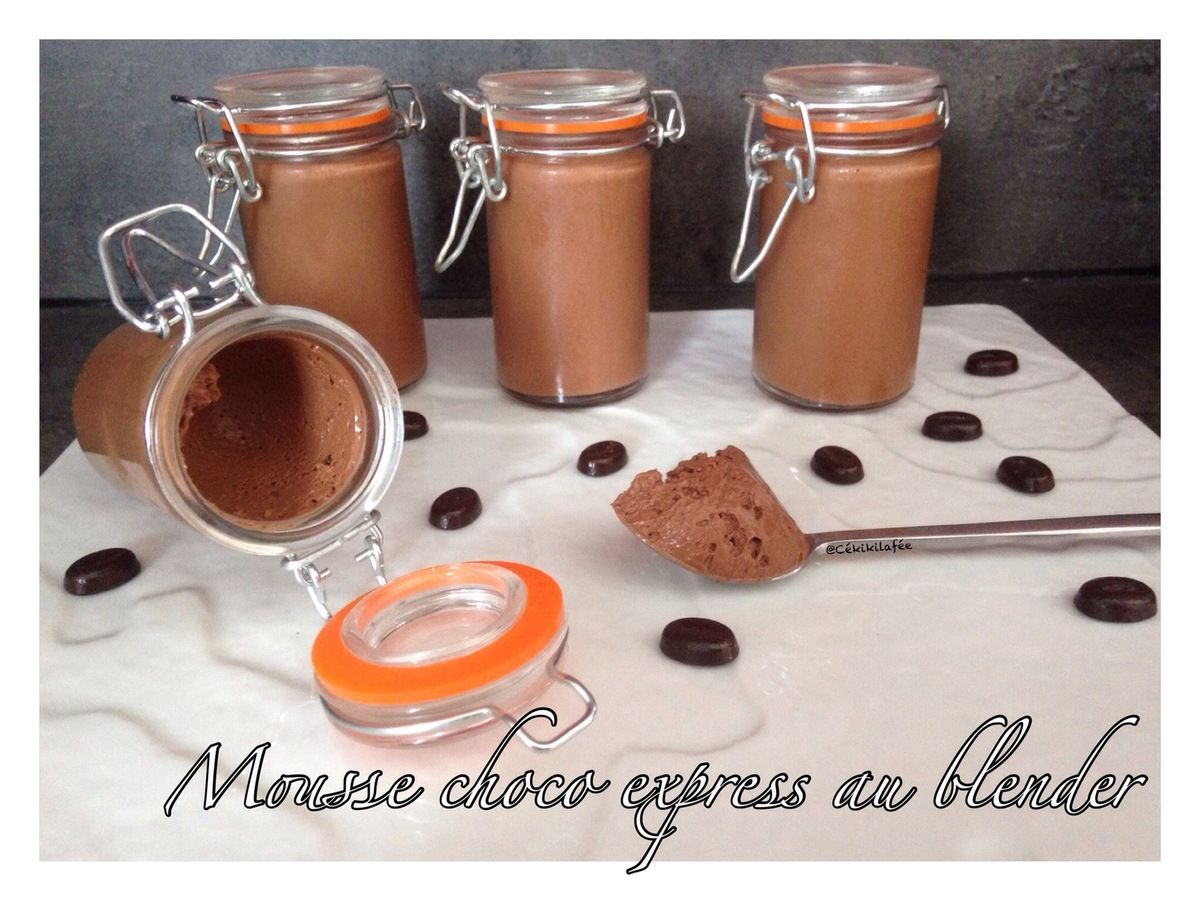 Blender Chauffant Cuisine Art Mousse Choco Express Au Blender Dessert Mousse