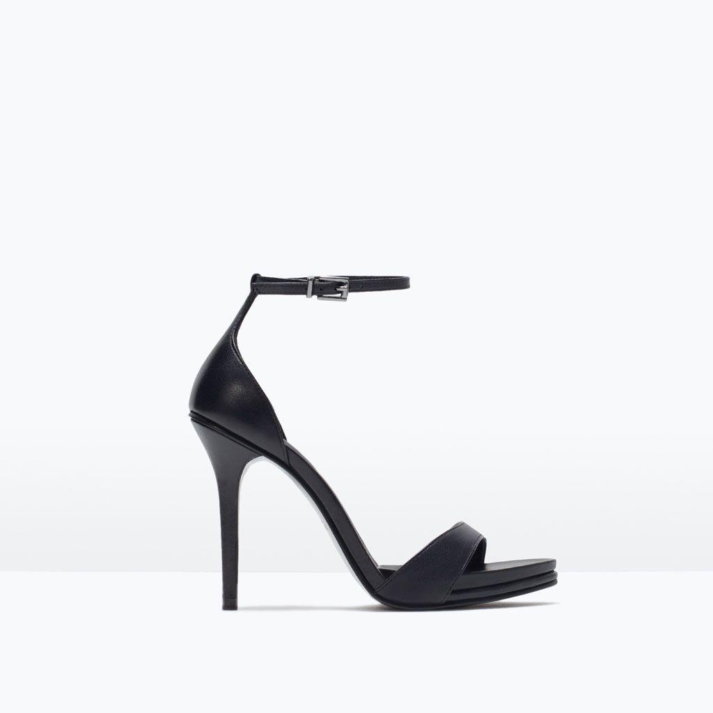 d3c78c4fec7 LEATHER HIGH HEEL SANDAL-Heeled sandals-Shoes-WOMAN-SALE