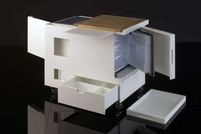 Kompakte Küche-Joe Colombo-boffi minikitchen-Design Zukünftige