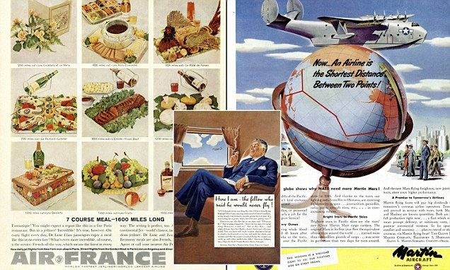 Vintage airline ad reveal seven-course menu from the Sixties