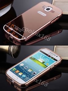 new product 869dc 4fdbb Aluminum-Metal-Bumper-Case-Mirror-Back-Cover-For-Samsung-Galaxy ...