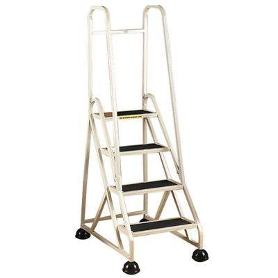 cramer industries inc 4 step aluminum handrails step stool with 300