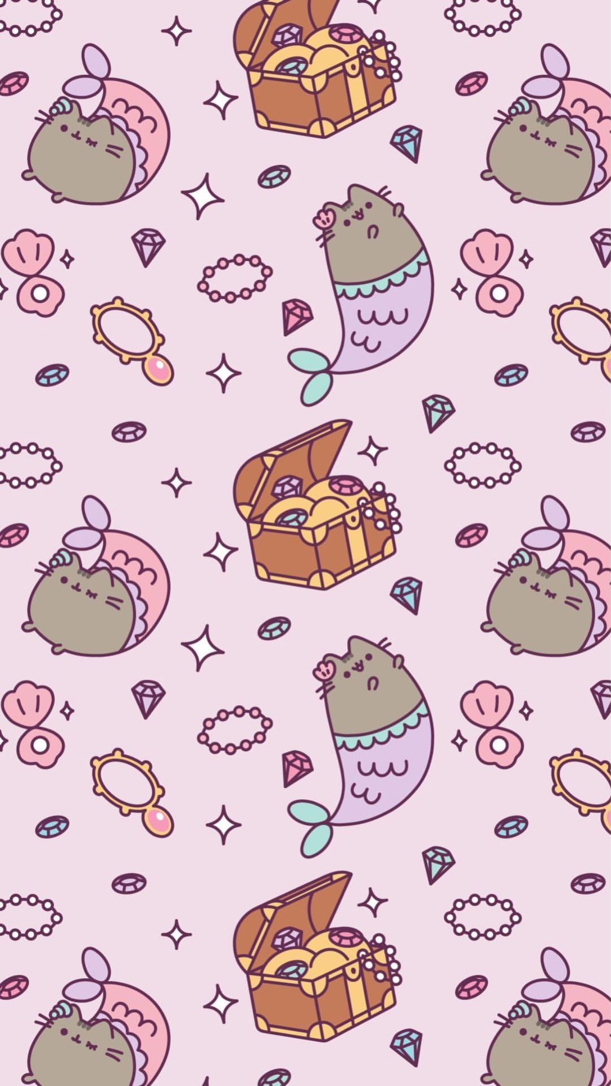 pusheen wallpaper mermaid kawaii wallpapers in 2018