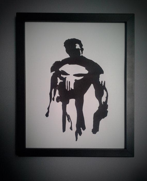 Punisher Wall Art Desenler Kil Testere Desenleri