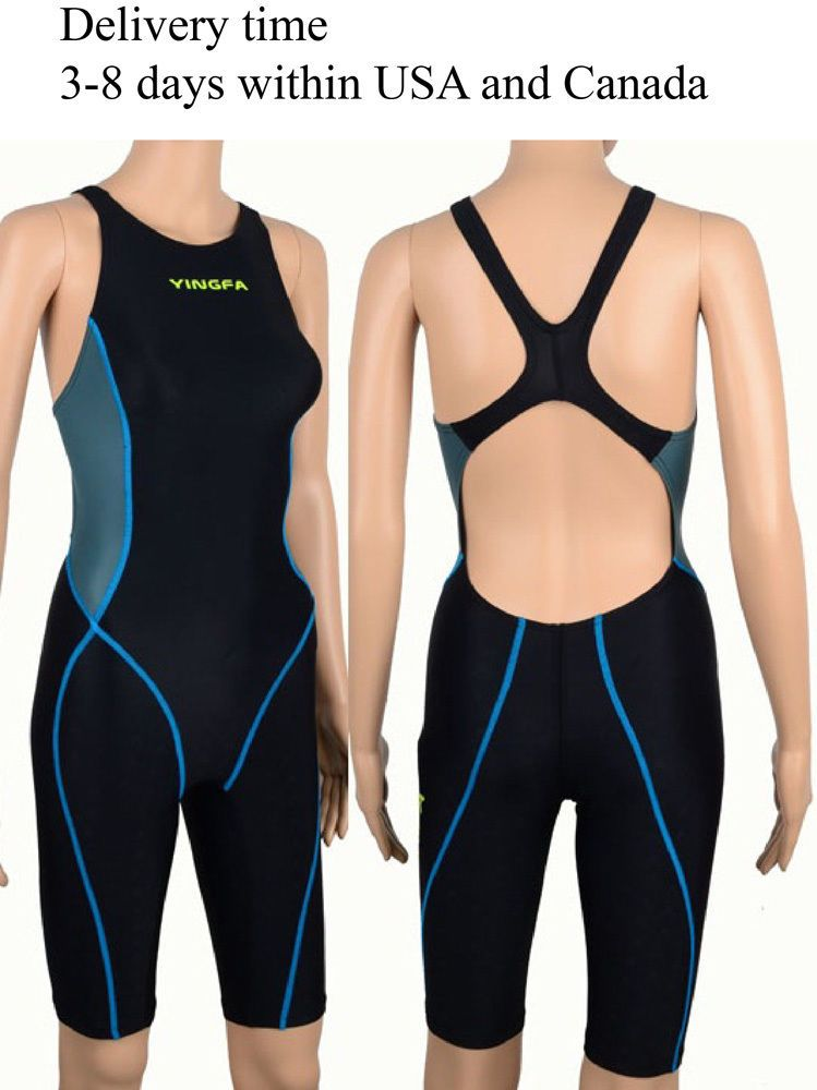 61aa0c247c074 Yingfa 953-2 Full Knee Swimsuit One Piece Swimsuit For Racing And Training