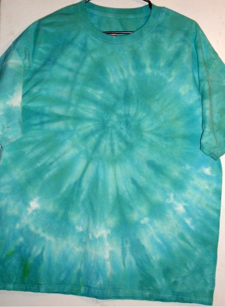 06d4c3122b1 NEW TSHIRT SIZE XL Hand Tie Dye Ice Process in blues greens Spiral Infused  SALE  14.29  MichiganTieDye