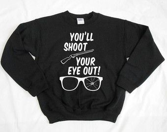 Kids Youll Shoot Your Eye Out Crew Neck Sweatshirt Ugly Christmas