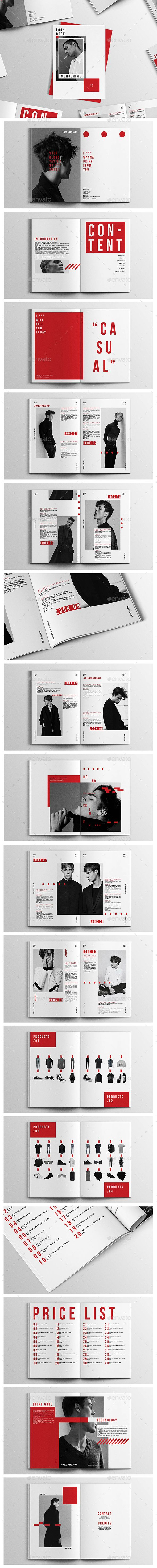 Monocrime Lookbook - #Magazines Print Templates