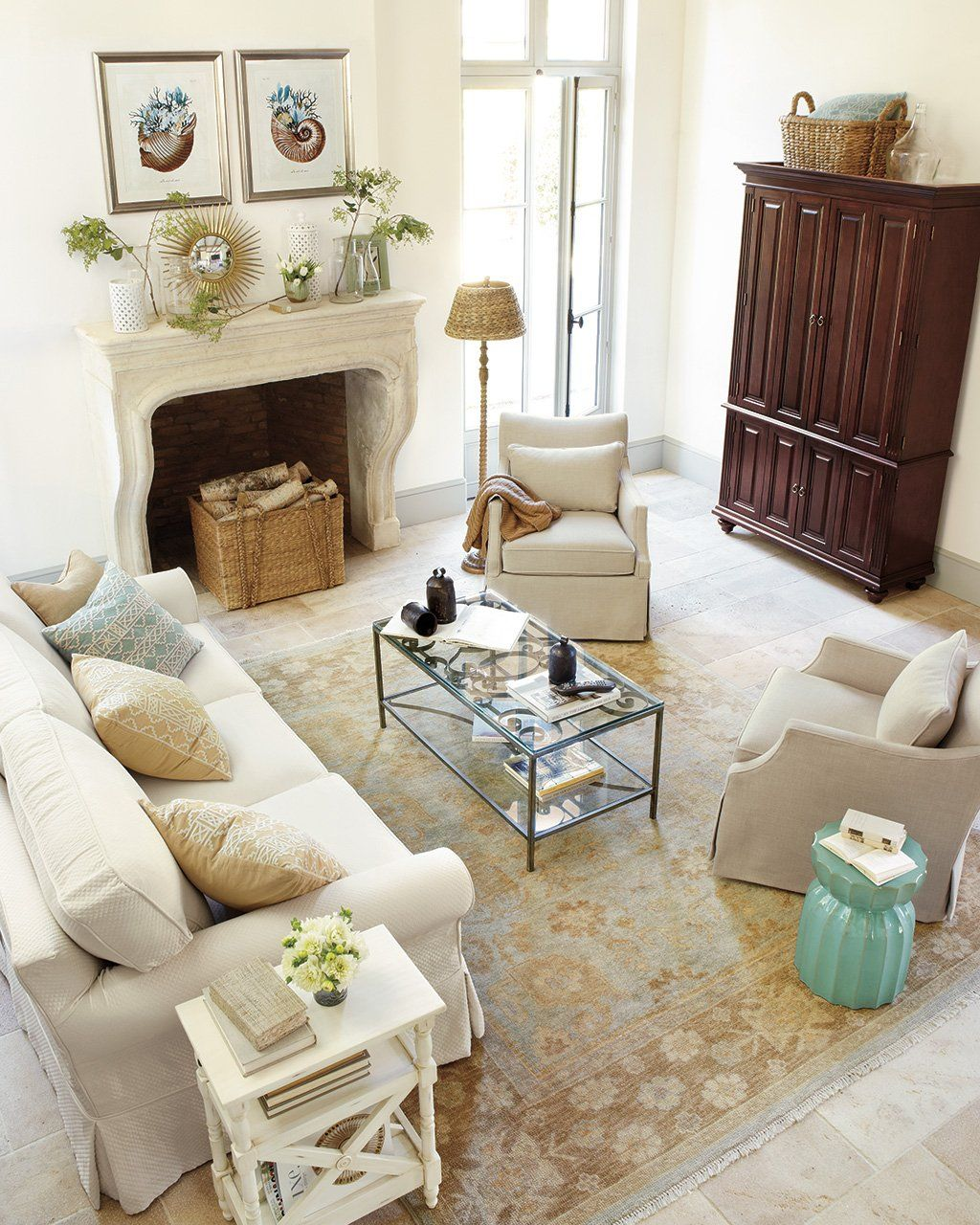 15 Ways to Layout Your Living Room | Columns, Gliders and Armoires