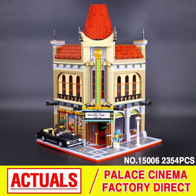 New 2354pcs City Street Palace Cinema Model Building Blocks set Bricks kids toys