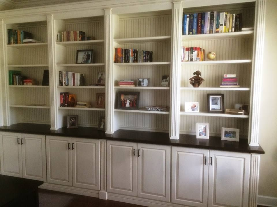 This Custom Maple And Poplar Office Bookcase Designed Built Installed By Borders