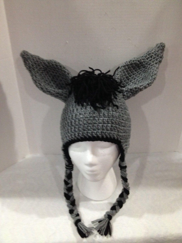 Donkey hat by KaityBugKreations on Etsy https://www.etsy.com/listing ...