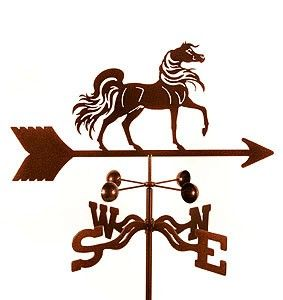Arabian Horse Weathervane - hand crafted in the US.  $59.95.