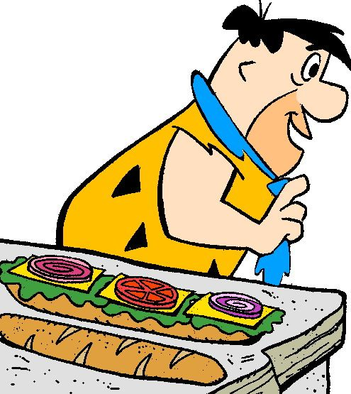Fred Making A Sandwich Os Flintstones