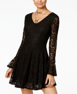 c462ac50d38 American Rag Juniors  Lace Fit   Flare Dress