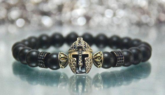 Men's Strength Matte Black Onyx Gemstone by Irisjewelerystudio
