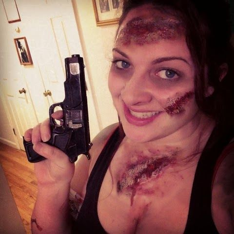 Easy Zombie Makeup All You Need Is Elmer S Glue Toilet Paper Fake Blood And