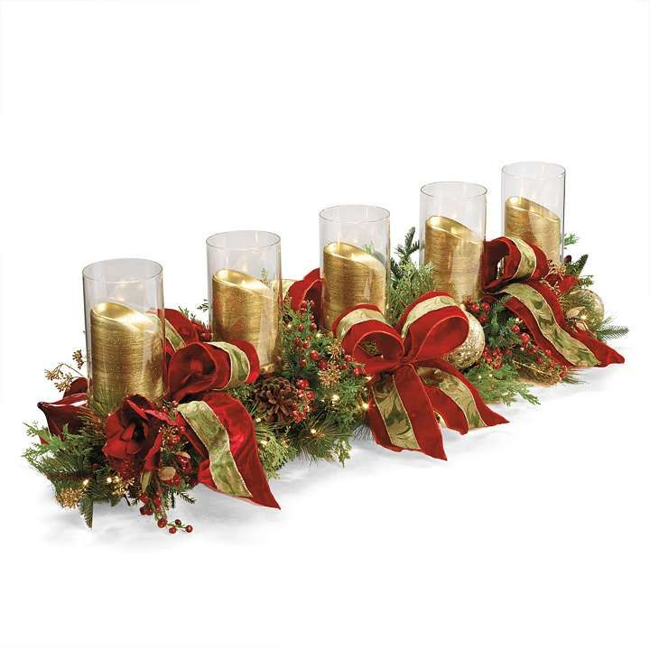Christmas joy decorated candle holder love this