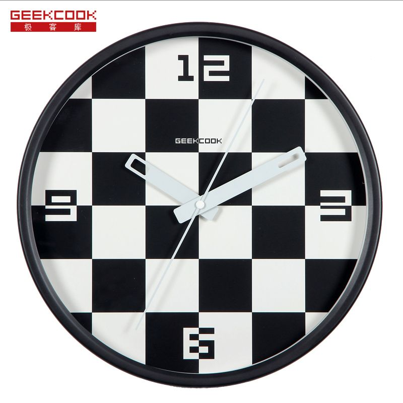 High Quality 12 Inch Square Circular Watch Wall Clock The Mute Fashion Living Room Modern Brief Mute Quartz Wall Clock Colorful Wall Clocks Clock Clock Design
