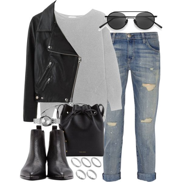 A fashion look from August 2016 by hellomissapple featuring Acne Studios, Current/Elliott, Mansur Gavriel, Nixon and ASOS