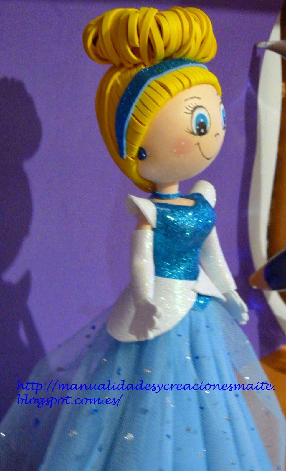 Fofucha princesa La CENICIENTA, de las princesas Disney, de la ...