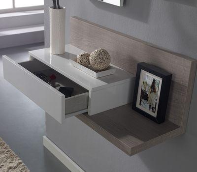 Découvrez le meuble d\u0027entrée avec miroir moderne VERATYavec 1 tiroir