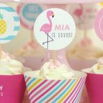 Cupcakes from a Let's Flamingle! Flamingo Birthday Bash via Kara's Party Ideas | KarasPartyIdeas.com | The Place for All Things Party! (1)