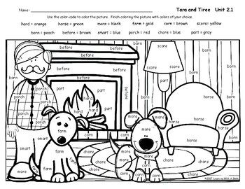 Reading Street Grade 2 FREE Tara and Tiree COLOR BY WORD