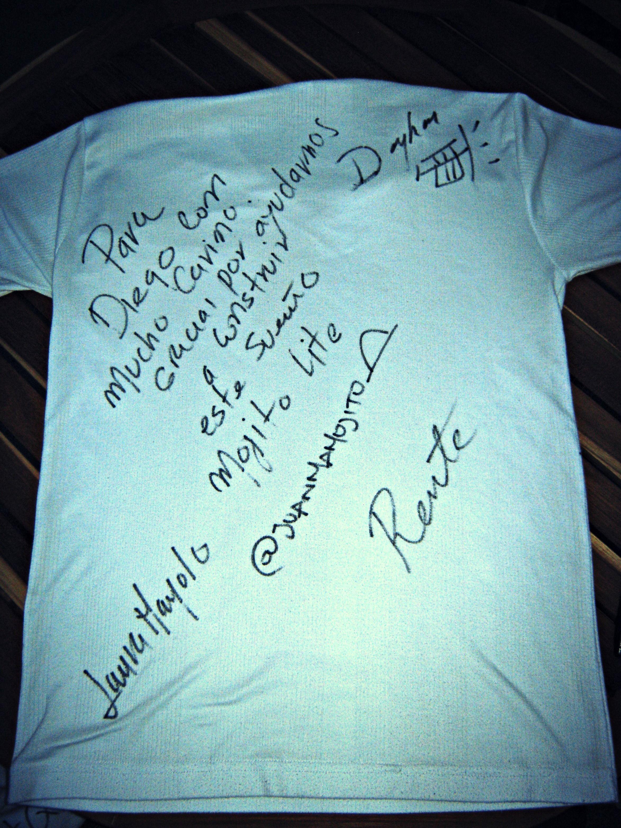 Camiseta autografiada y con dedicatoria!