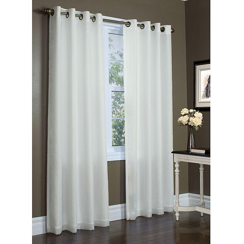 Rhapsody 84 Double Width Grommet Top Window Curtain Panel In