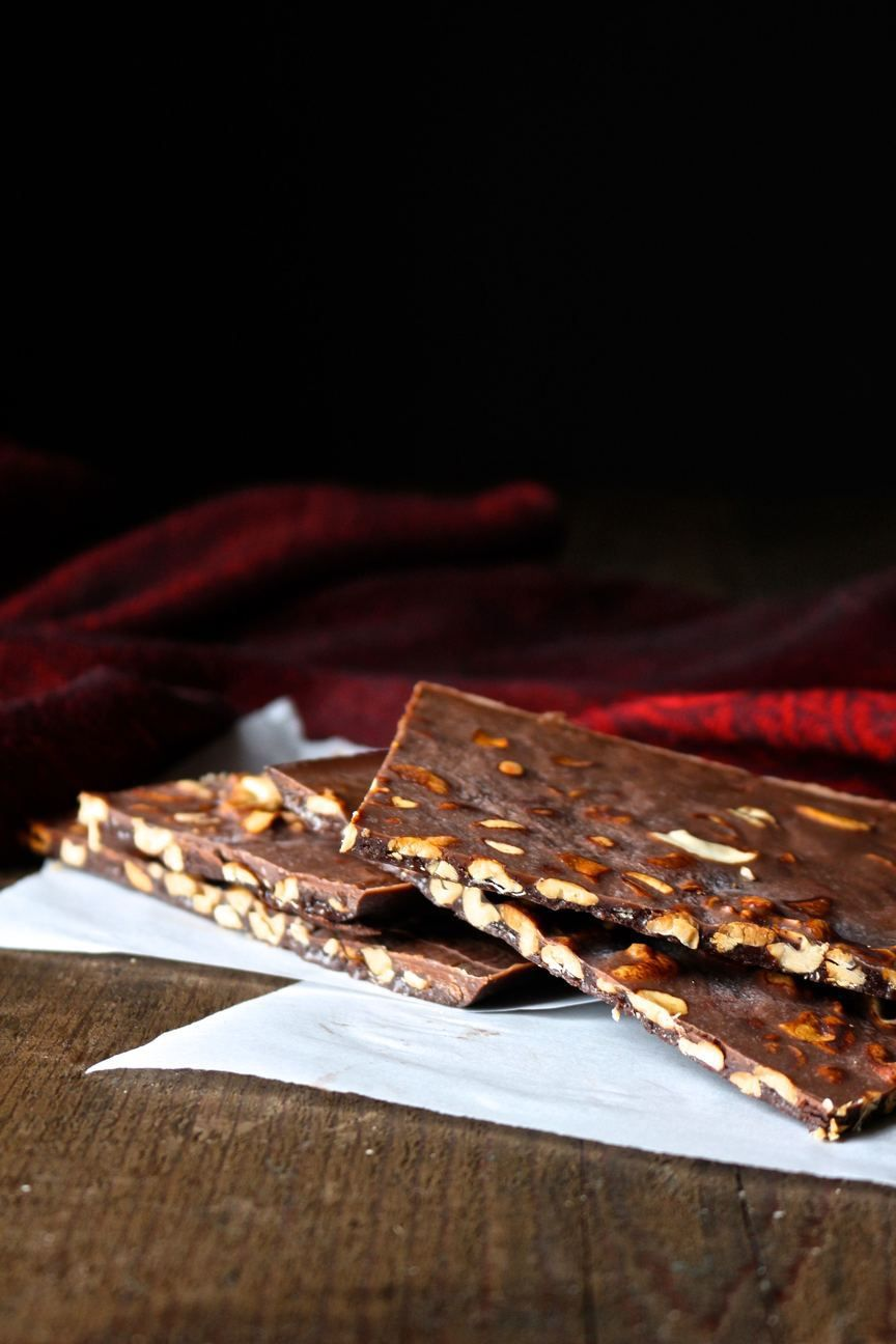 Coconut oil roasted cashew chocolate bars delicious