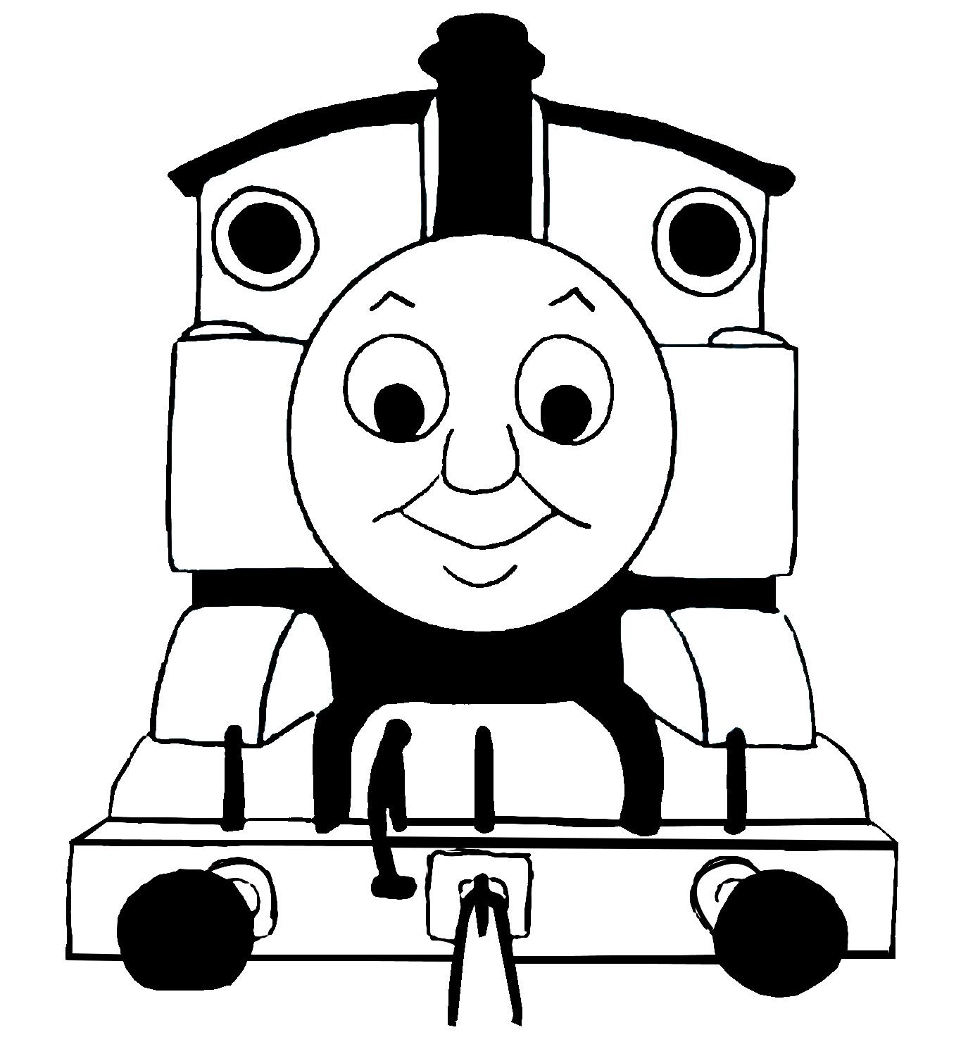 Images for thomas train clip art black and white for Thomas the tank engine face template
