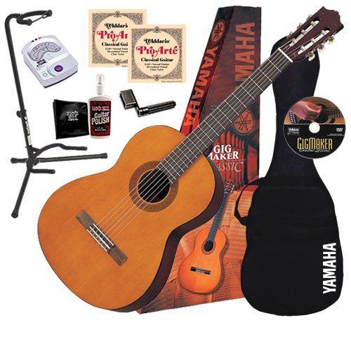 Yamaha Guitars Yamaha C40 Classical Guitar Complete Bundle W Gig Bag Tuner Stand Yamaha Acoustic Guitar Yamaha Acoustic Yamaha Guitar
