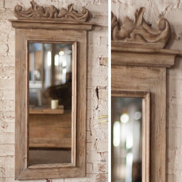 Wood Frame Mirror Framed Mirror Tall Mirror Long Mirror