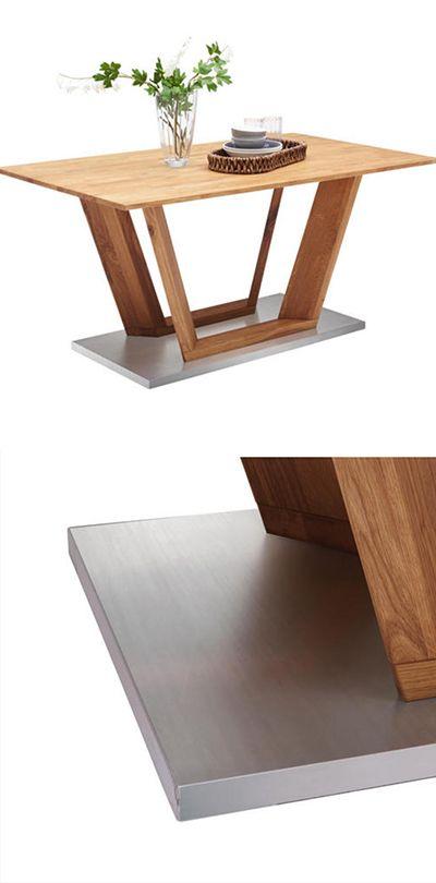 ESSTISCH in Holz, Metall 160/90/76 cm Esstisch 160x90