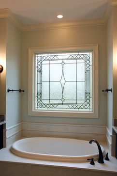 Decorative Gl Windows Traditional Bathroom Raleigh By