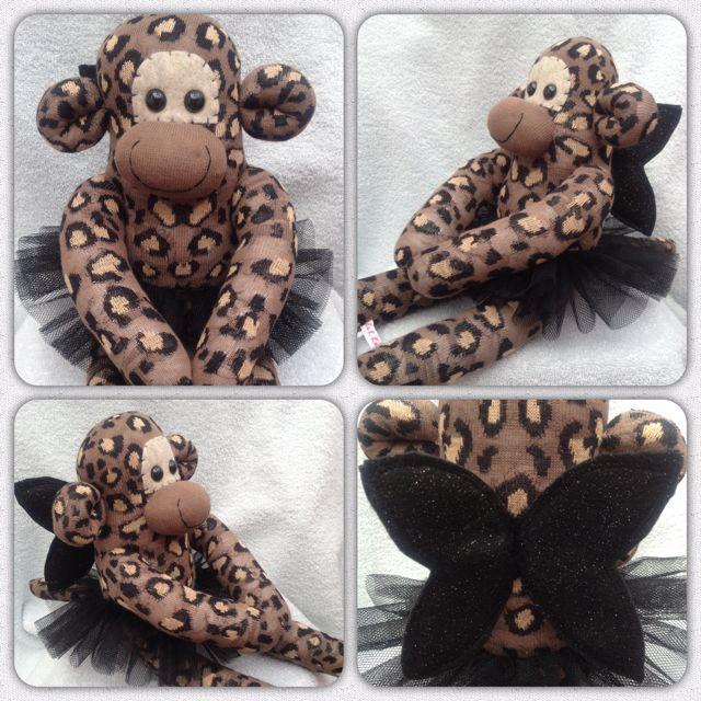 Leopard print fairy princess sock monkey