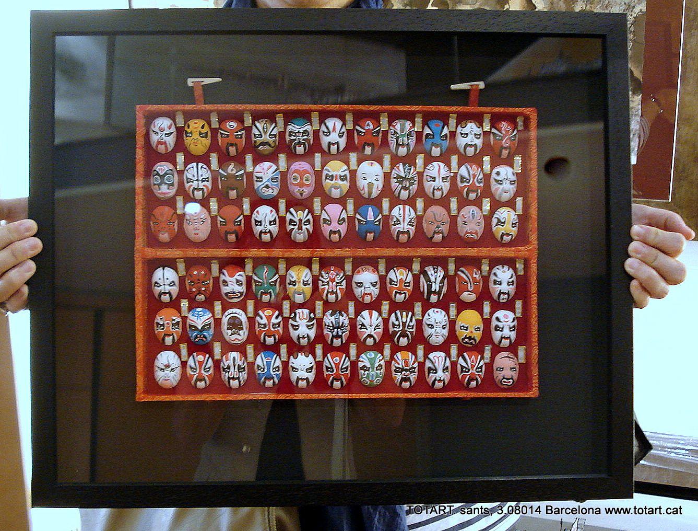 Cuadro de máscaras Chinas en tienda de marcos y cuadros de Barcelona ...