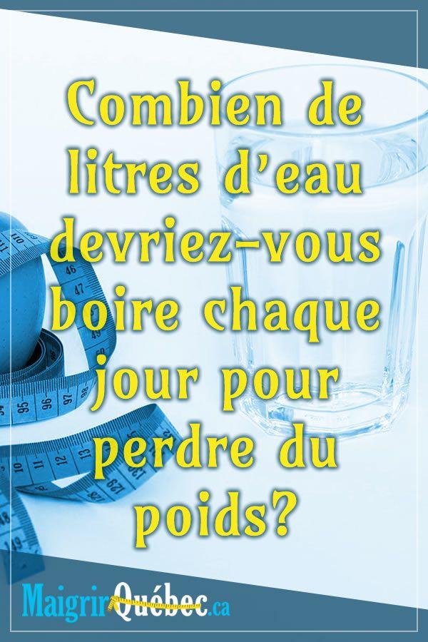 Combien de litres d'eau devriez-vous boire chaque jour