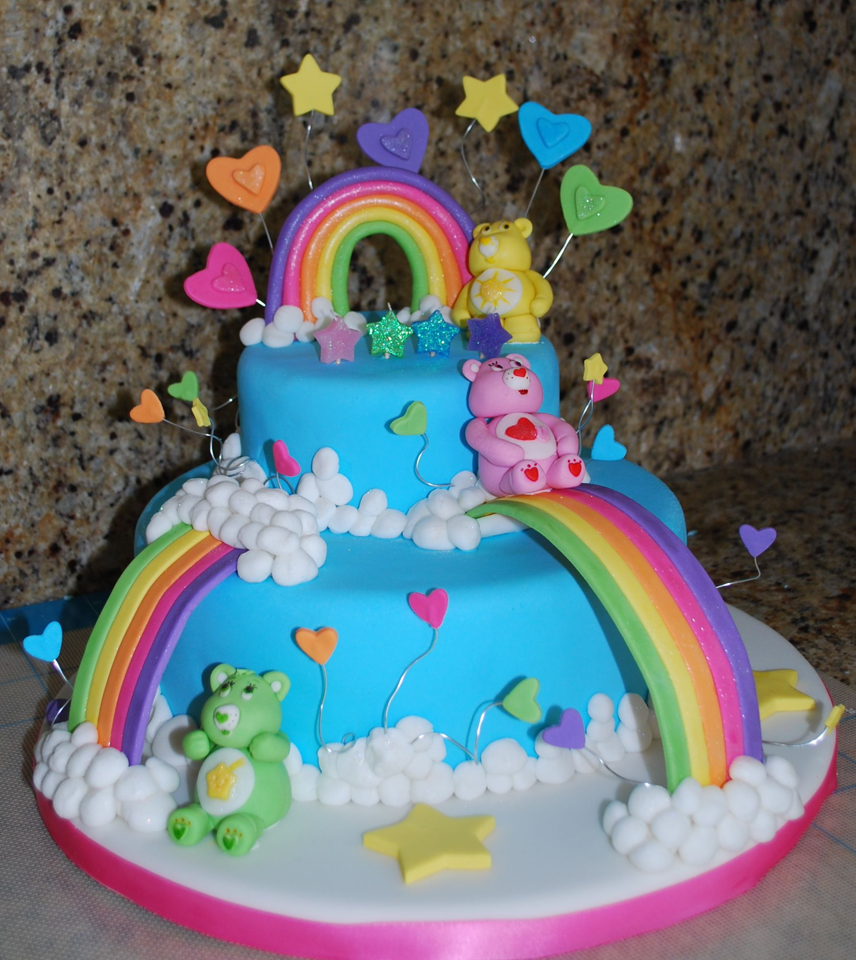 Fabulous Care Bears Care Bear Cakes Childrens Birthday Cakes Bear Cakes Funny Birthday Cards Online Alyptdamsfinfo