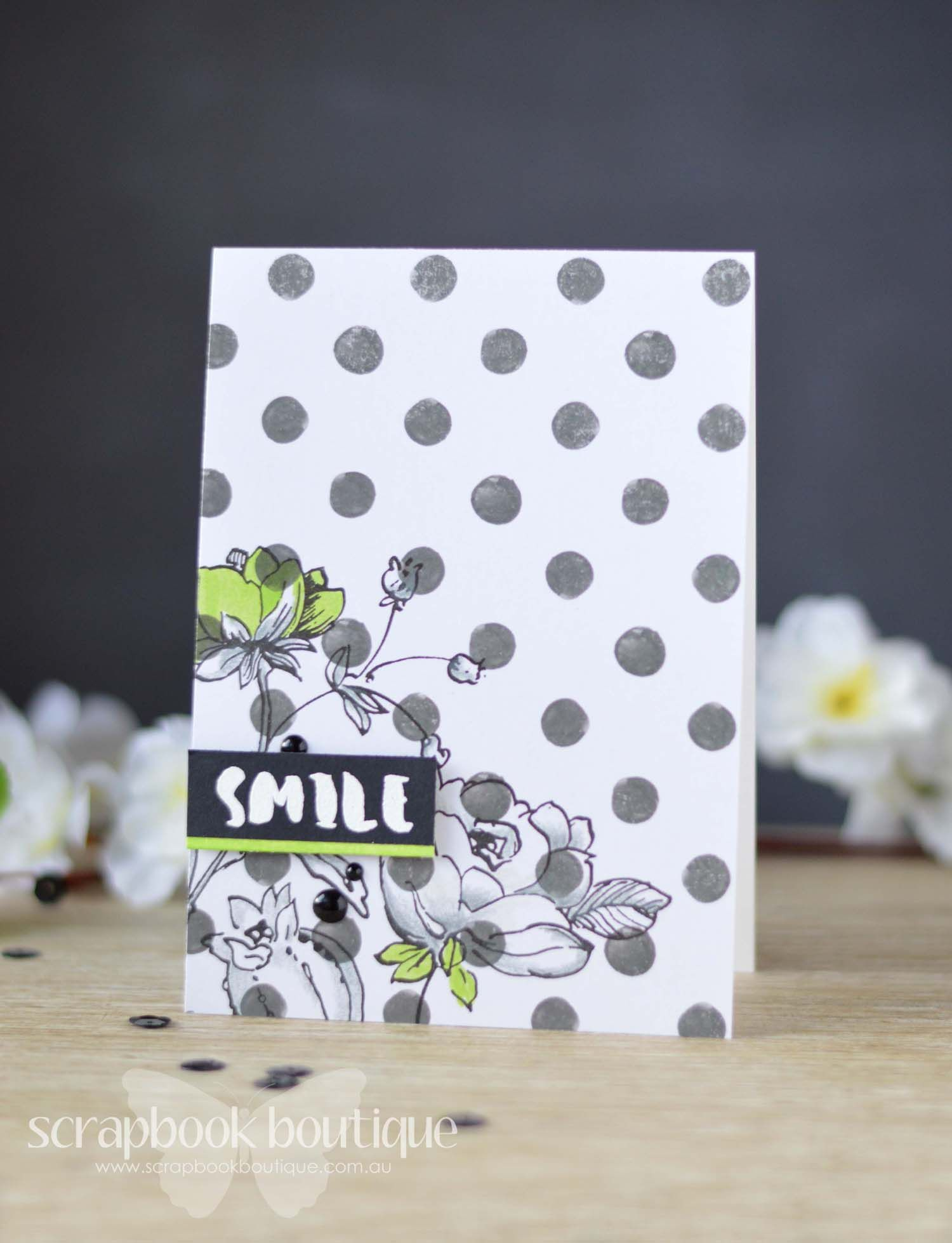 Time for another Challenge at Scrapbook Boutique Bloghop & Giveaway!  (Love the pop of color)