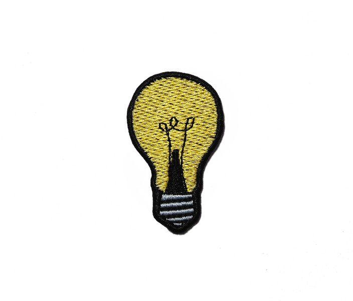 Naszywka Light bulb - HafnaHaft - Naszywki