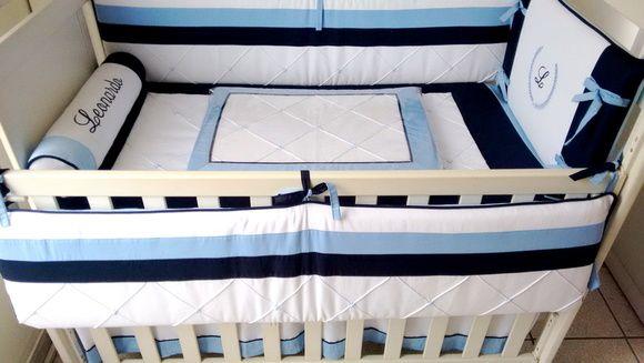 Kit Berço Menino Azul 347b- 12 pçs