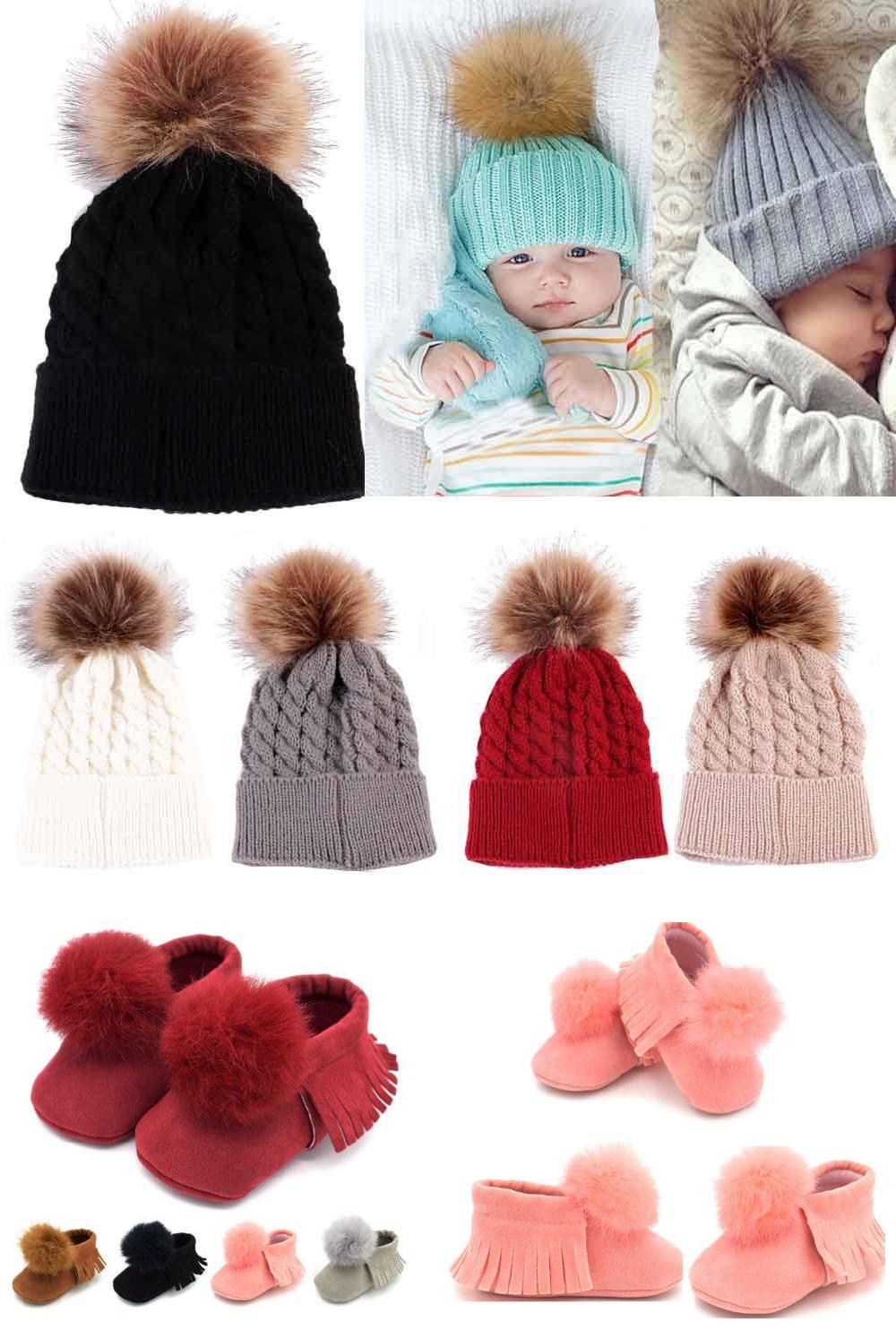 Cute pom pom baby hat boys /& girls