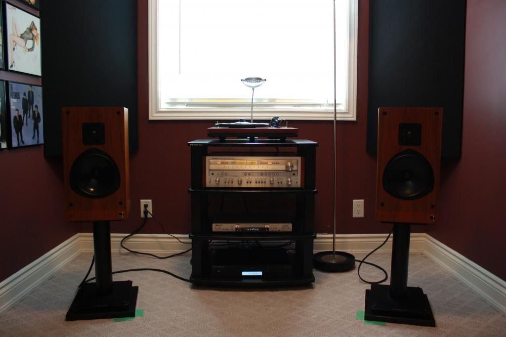 Listening room: installed acoustic panels - AudioKarma org Home