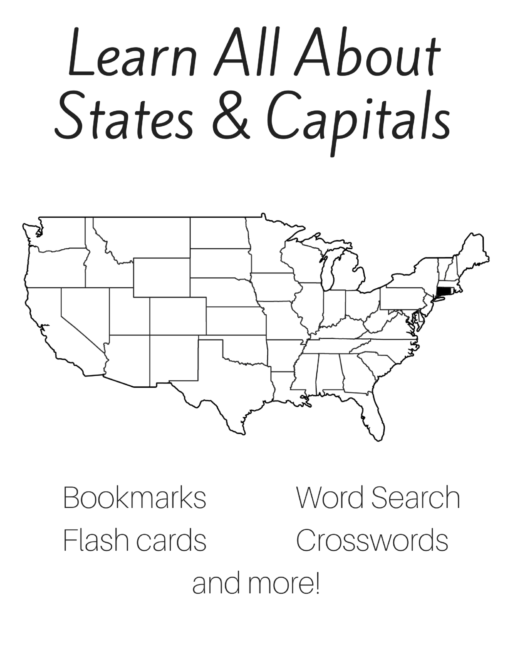 Free 50 States And Capitals Printable Workbook In
