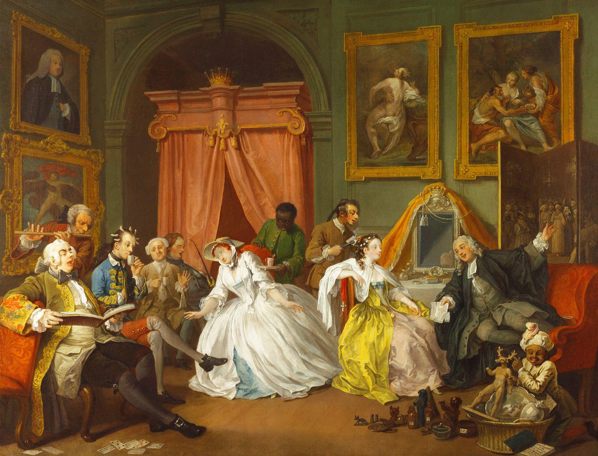 William Hogarth Marriage A La Mode 4 The Toilette William