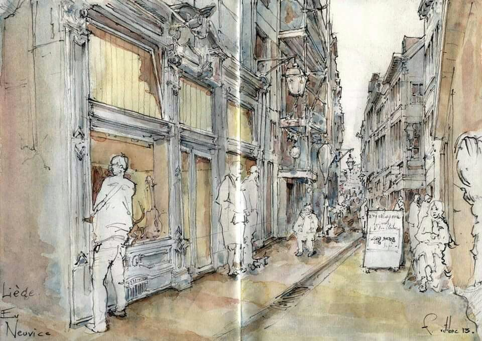 Fabien de Noël - La rue Neuvice | sketchbooks | Pinterest ...